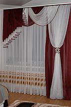 Комплект ламбрекен со шторой в спальню Агния 2м, фото 3