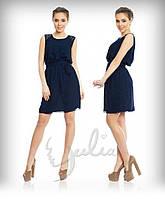 Платье женское Аннет темно синее , летние платья