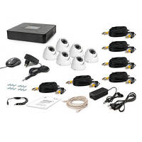 Комплект видеонаблюдения Tecsar AHD 6OUT-DOME (6643)