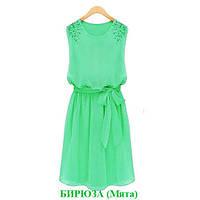 Платье женское Аннет мятное , летние платья