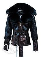 Кожаная куртка с мехом нутрии, фото 1