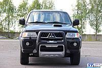 Передняя защита для Mitsubishi Pajero Sport 1998-2008 Asya ST Line