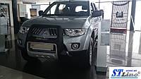 Передняя защита для Mitsubishi Pajero Sport 2008-2010 Asya ST Line