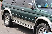 Боковые пороги для Mitsubishi Pajero Sport 98-07 d:42 ST Line