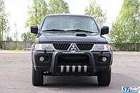 Передняя защита для Mitsubishi Pajero Sport 1998-2008 Inca ST Line