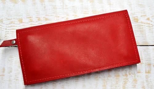 Яркое портмоне из натуральной кожи GBAGS W.0011-ALI красный