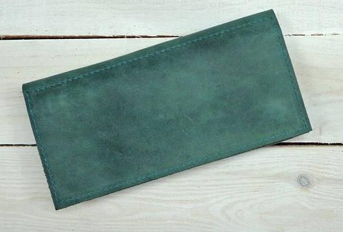 Фантастическое портмоне из натуральной кожи GBAGS W.0011-ALI изумрудный