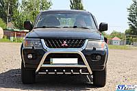 Передняя защита для Mitsubishi Pajero Sport 2008+ Inform ST Line