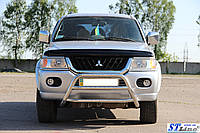 Передняя защита для Mitsubishi Pajero Sport 2008+ WT-022 Vagor ST Line