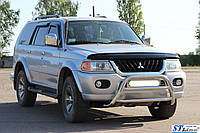 Передняя защита для Mitsubishi Pajero Sport 1996-2008 WT-022 Vagor ST Line