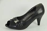 Молодежные туфли кожзам на каблуке, фото 1