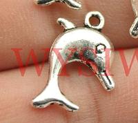Подвеска дельфин металлическая для изготовления бижутерии своими руками