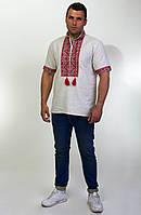 Мужская вышитая сорочка с выразительным геометрическим орнаментом