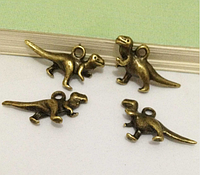Подвеска динозаврик металлическая для изготовления бижутерии своими руками