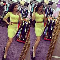 Костюм женский Виктори желтый , недорогие платья