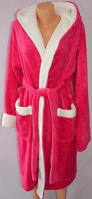 Махровый халат короткий с белой вставкой