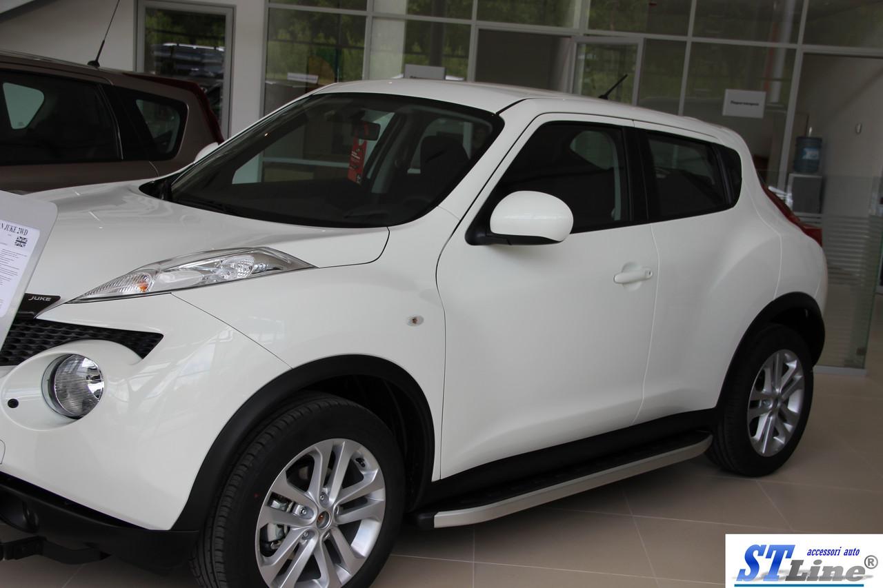 Боковые пороги для Nissan-Juke 2010+ ST Line - REGIK.COM.UA автоаксессуары и тюнинг в Одессе
