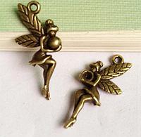 Подвеска ангелочек металлическая для изготовления бижутерии своими руками