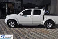 Боковые пороги для Nissan Navara 2005+ ST Line
