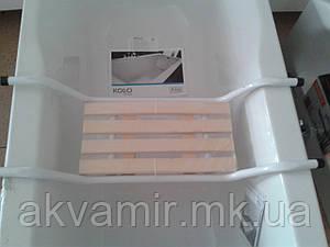 Накладное сиденье для ванной с деревянной накладкой