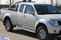 Боковые пороги для Nissan Navara 2005+ d:42 ST Line