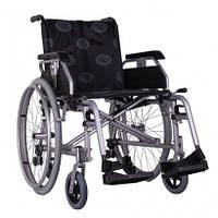 """Коляска облегченная алюминиевая """"Light-III"""" с противоодкидными колесами, регуляция центра тяжести (цвет: хром)"""