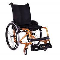 """Коляска активная сложная """"ADJ"""" (регулируемая по: ширине, глубине и высоте спинки) (цвет: оранжевый)"""
