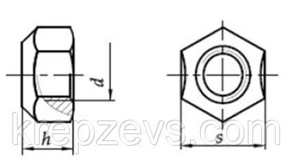 Самоконтрящаяся гайка М12 DIN 980 креслення