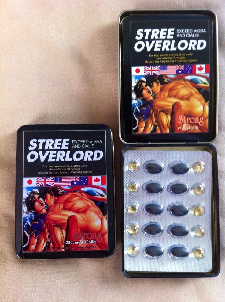 Таблетки для потенції Stree Overlord Стри Оверлорд-лікування простатита10 таблеток+10 кульок в упаковці