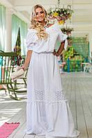 Платье Летнее Белое Х/Б в Пол Божественное