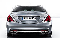 Насадки на выхлопную трубу Mercedes W222 AMG S63