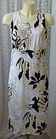 Платье летнее модное льняное Select р.46-48 6540