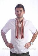 Вышиванка Украинская мужская с коротким рукавом