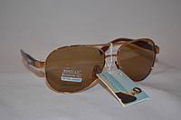 Солнцезащитные очки мужские капли коричневый BOGUAN 3335