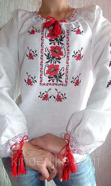 a4e98b23fa2bf2 Купить Українська сорочка вишиванка для дівчинки на рубашечной ткани ...