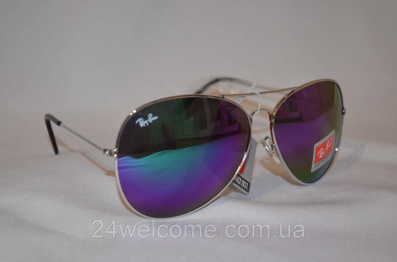 7653db87e9b4 Солнцезащитные очки унисекс Ray Ban Aviator Хамелеон бирюзово-фиолетовый - Интернет  магазин WELCOME в Харькове