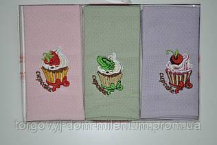 Набор полотенец вафельное размер 40/60 см цена за 3 шт. ERIL