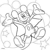 Холст с контуром 'Микки Маус-2' (25см*25см) с красками