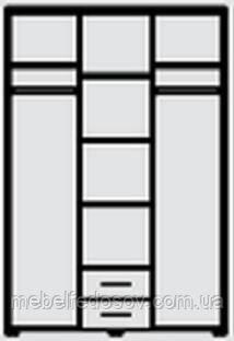 Внутреннее наполнение Круиз; Шкаф 3-д  (Світ меблів)