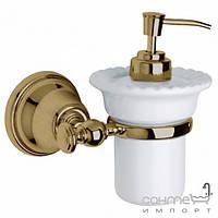 Аксессуары для ванной комнаты All.pe Дозатор для жидкого мыла с настенным держателем All.pe Harmony VCOT HA108 бронза