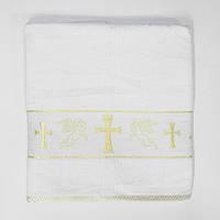 Крестильное полотенце крыжма  70*140  ровный крест