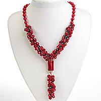 """Ожерелье красный Коралл """" Гирлянда Роз"""", длина 50см"""