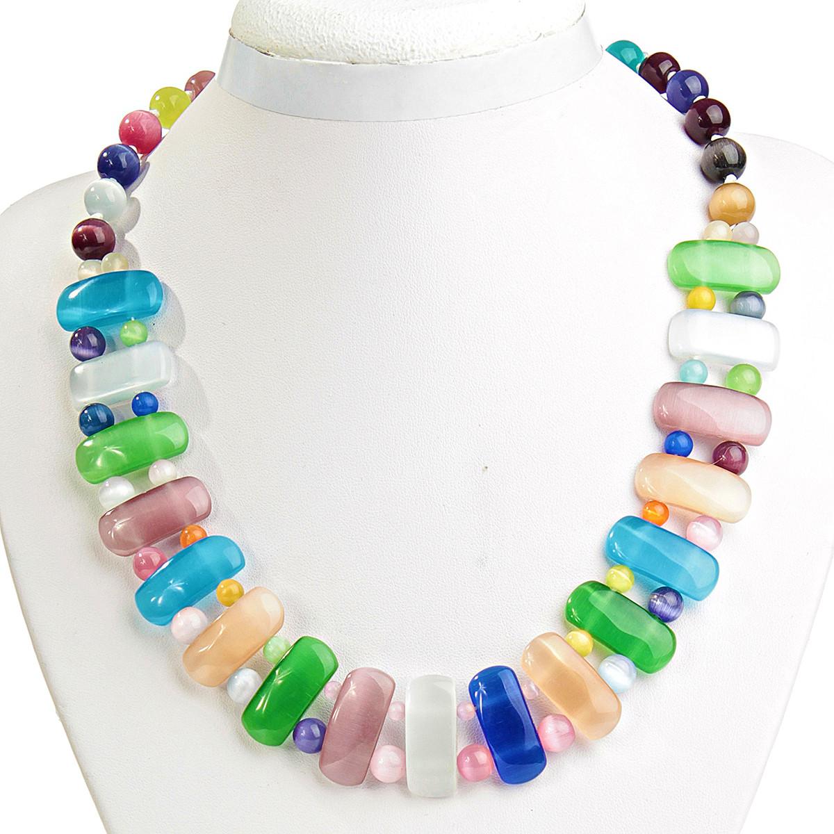 Ожерелья из цветных натуральных камней