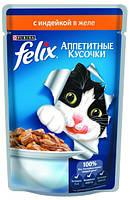 Консервы для кошек FELIX Fantastic (Феликс) с индейкой, 100 гр