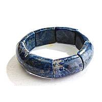 Браслет на резинке Лазурит прямоугольные камни