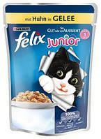 Консервы для котят FELIX Fantastic (Феликс) с курицей в желе, 100 гр