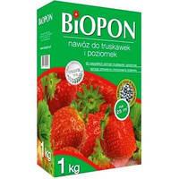 Удобрение в гранулах BIOPON для клубники и земляники, 1 кг