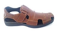 Мужские кожаные летние туфли Big Boss 46,47,48,49.brown, фото 1