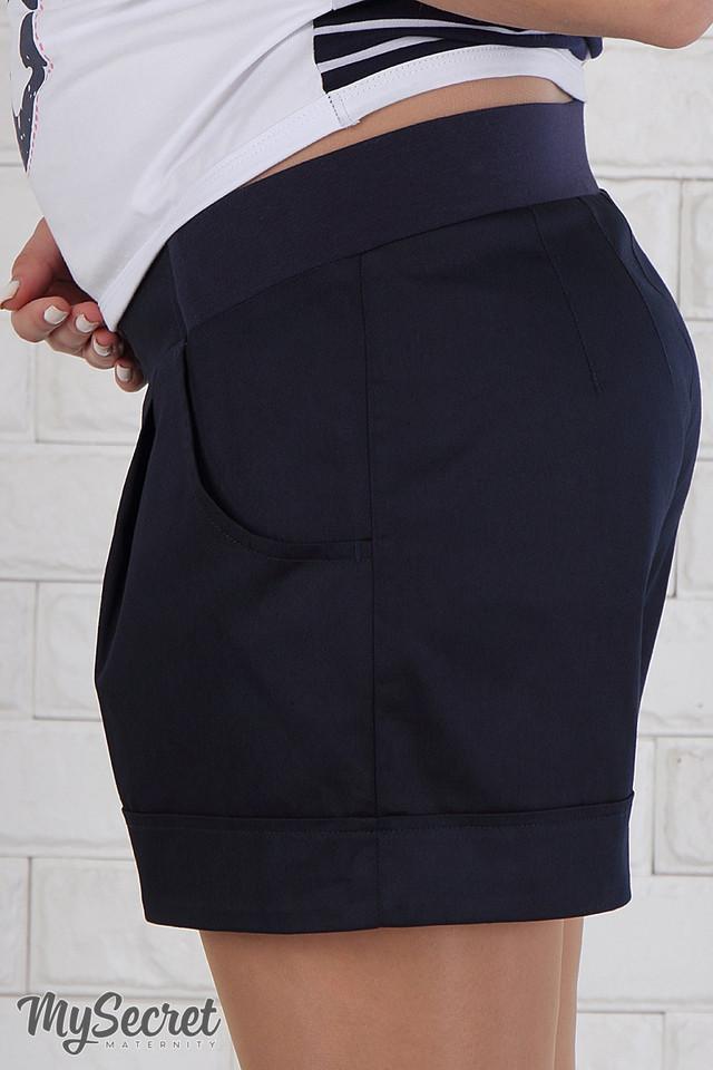 3b3d75ffdb60 Модель имеет универсальный бандажный пояс с широкими шлевками, благодаря  чему шорты можно носить и после беременности. Цвет  темно-синий