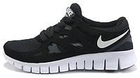 Мужские кроссовки Nike Free Run 2.0 Black/White, черные, фри ран